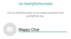 Wappy WhatsApp Business Bedrijfsnaam