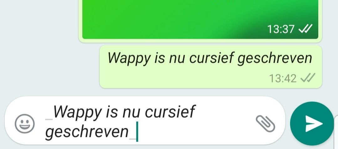 WhatsApp Business Automatisch Bericht Cursief
