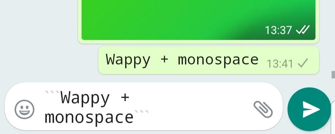 WhatsApp Business Automatisch Bericht Monospace