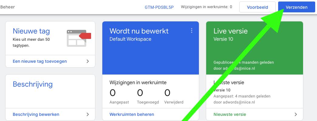 WhatsApp widget tag verzenden
